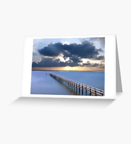 Pledge On a Blue Beach Greeting Card