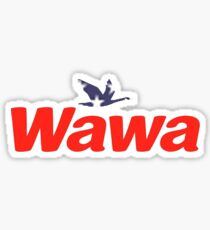 America-Themed Wawa Red White and Blue Sticker