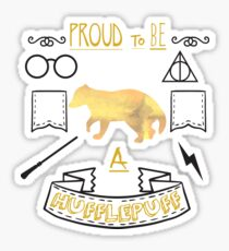 Proud to be a Hufflepuff Sticker