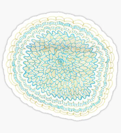 Gold & Azure Mandala Sticker