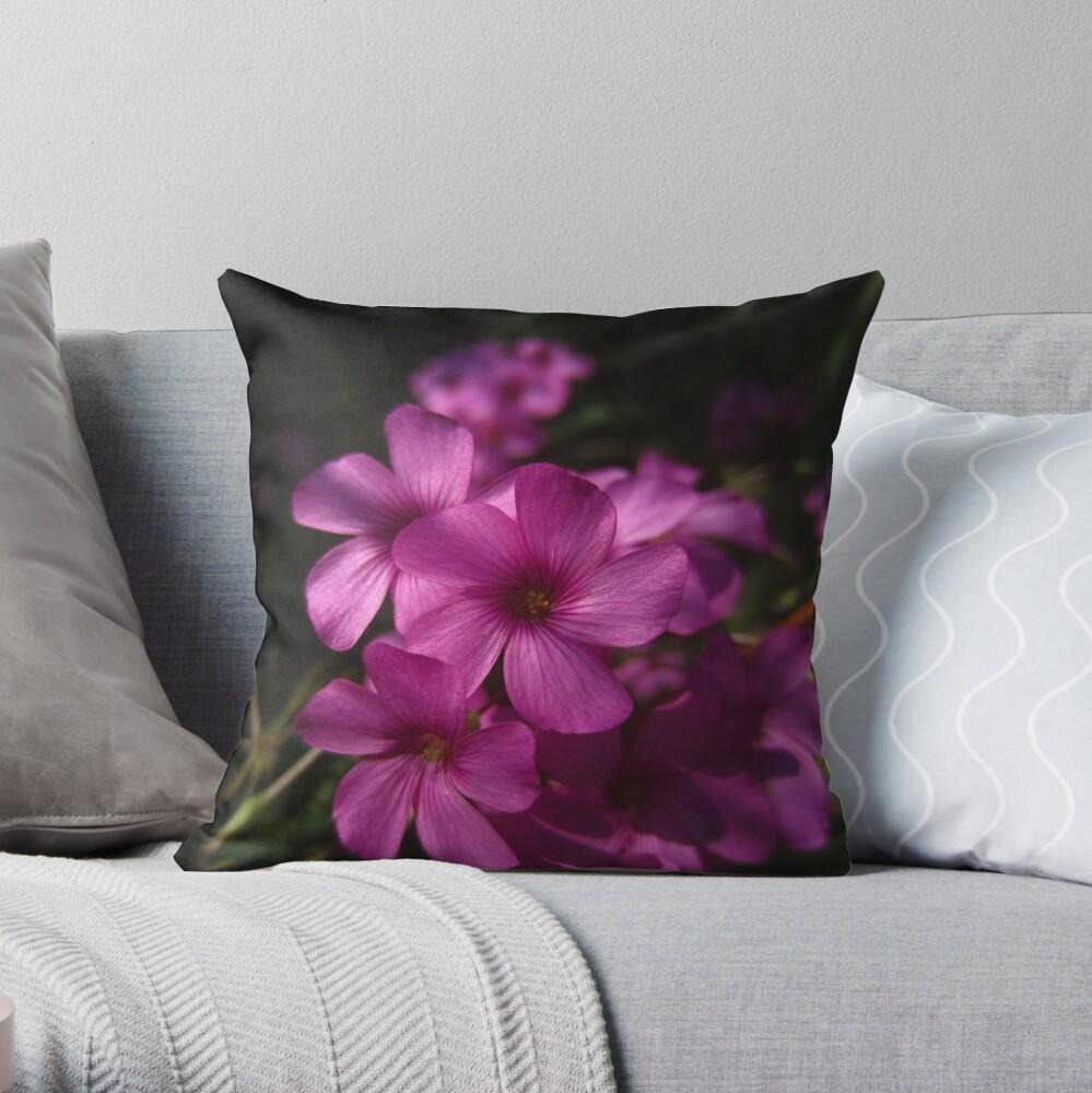 Pink-Sorrel Throw Pillow