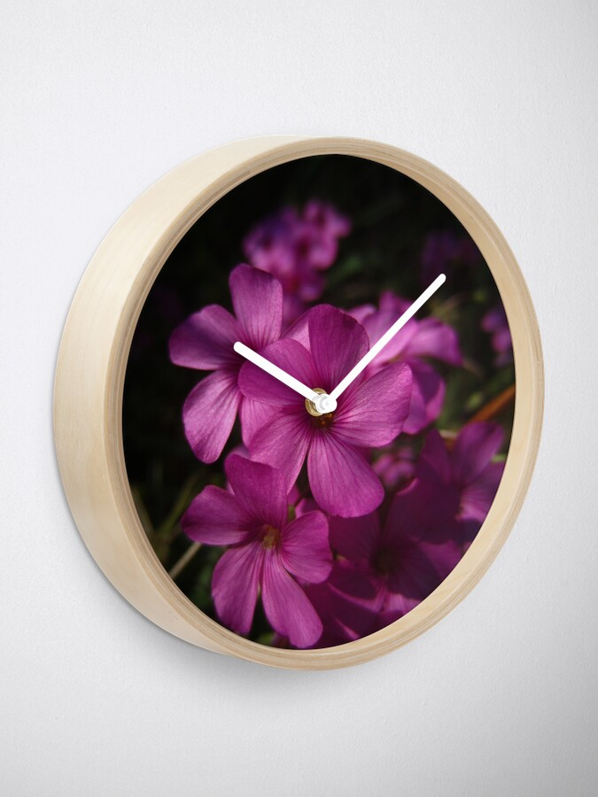 Alternate view of Pink-Sorrel Clock