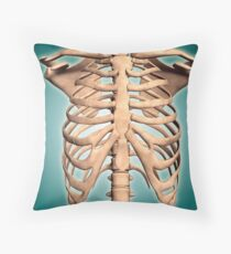 Close-up view of human rib cage. Throw Pillow