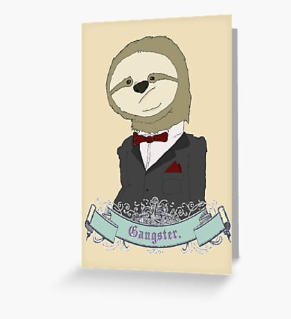 Gangster Greeting Card