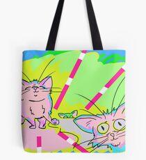 Funky Katz Tote Bag