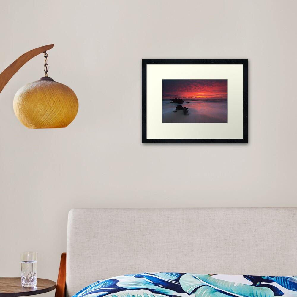 Trigg Beach Sunset Framed Art Print