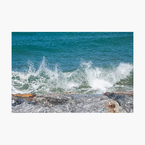 breaking waves Photographic Print