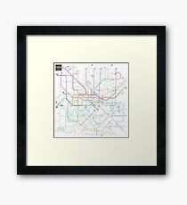 London tube map Framed Print