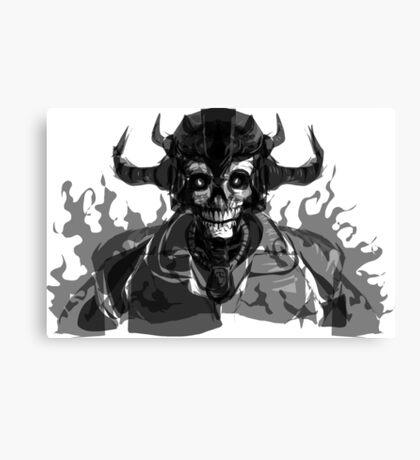 Grim Reaper Skull Head Canvas Print