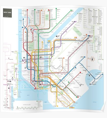 Subway Map Posters  Redbubble