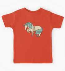 Cute Lovely Stylish Horse Drawing Cartoon - Adorable Horses T Shirts And Gifts Kids Tee