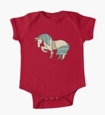 Cute Lovely Stylish Horse Drawing Cartoon - Adorable Horses T Shirts And Gifts One Piece - Short Sleeve