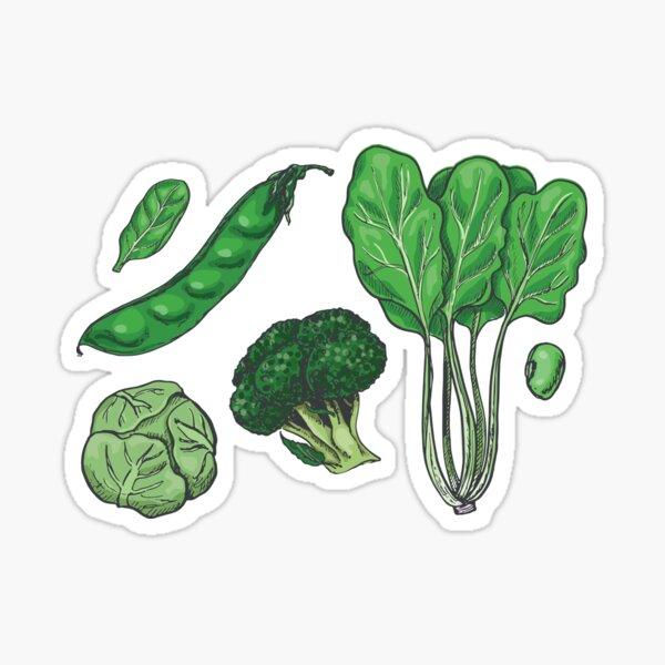 Green Vegetable pattern Sticker