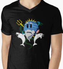 Planet Neptune, God of the Sea Men's V-Neck T-Shirt