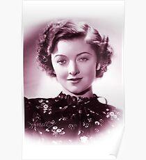 Myrna Loy vintage color Poster