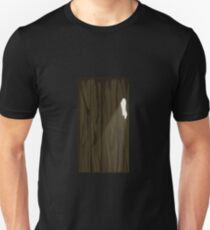 Glitch Homes Wallpaper wooden cave wall right T-Shirt