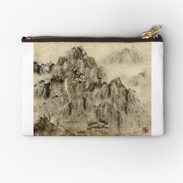 Calligraphy map, kung fu map Zipper Pouch