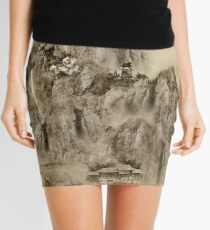 Calligraphy map, kung fu map Mini Skirt