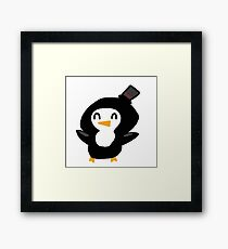 Party Penguin Framed Print