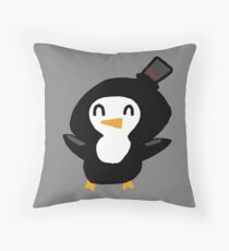 Party Penguin Throw Pillow