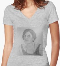 Mary Crawley - Downton Abbey Women's Fitted V-Neck T-Shirt