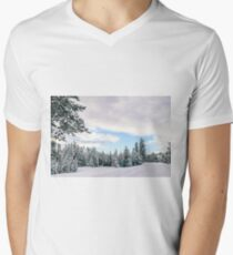 Snow Scene Men's V-Neck T-Shirt