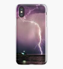 Lightning over water iPhone Case/Skin