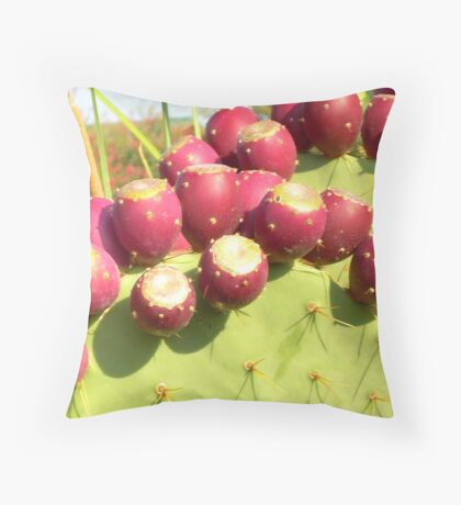 Prickly Pear Rippen Throw Pillow