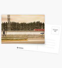 Red Steel Blue Denim Postcards
