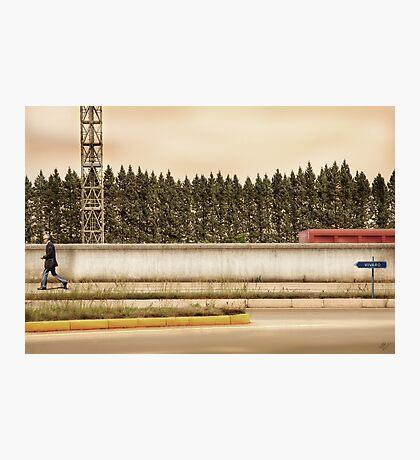 Red Steel Blue Denim Photographic Print