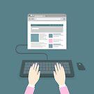 Hands on the keyboard by Aleksander1