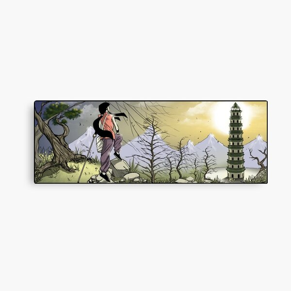 Sunrise at the watchtower, kung fu girl adventure Canvas Print