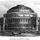 Vintage Royal Albert Hall print by Boxzero