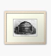Vintage Royal Albert Hall print Framed Print