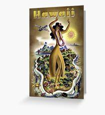 Vintage Airline Hawaii Travel Greeting Card