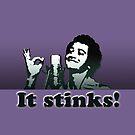 """It Stinks!"" Mug (Solid purple) by marlowinc"