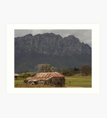 australia - tas, Mt Roland and Homestead Art Print
