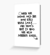 Best. Summer. Ever Greeting Card