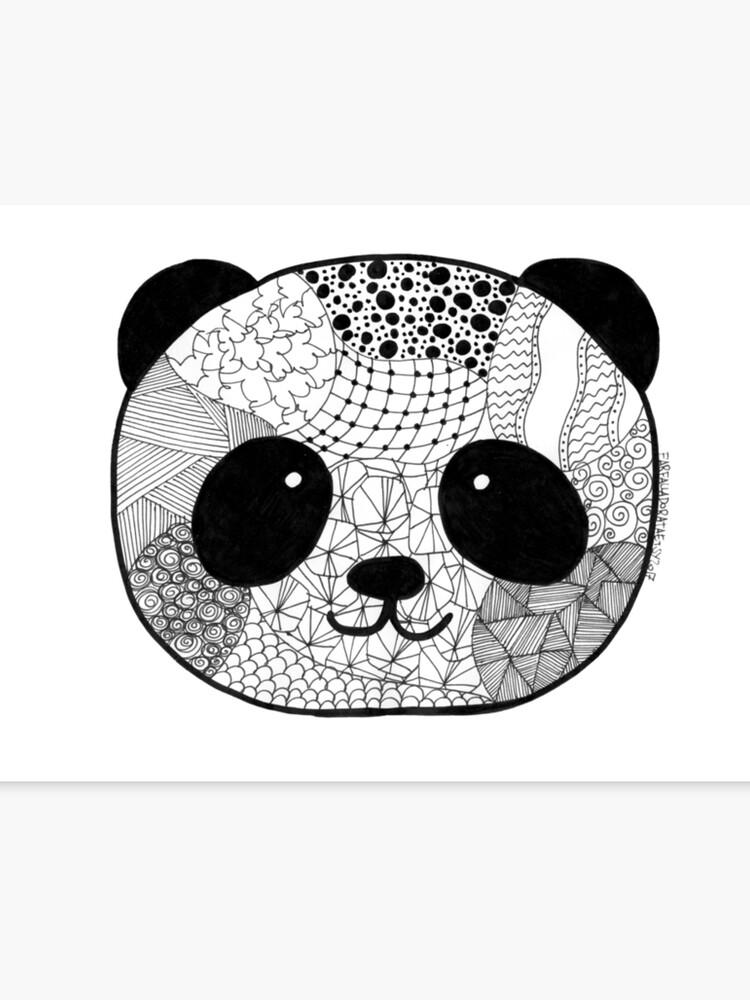 Panda draw zentangle | Canvas Print