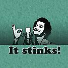 """""""It Stinks!"""" Mug (Green shag) by marlowinc"""