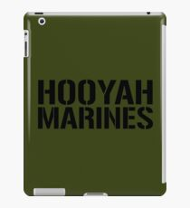 United States Marine Corps, Hooyah Marines iPad Case/Skin