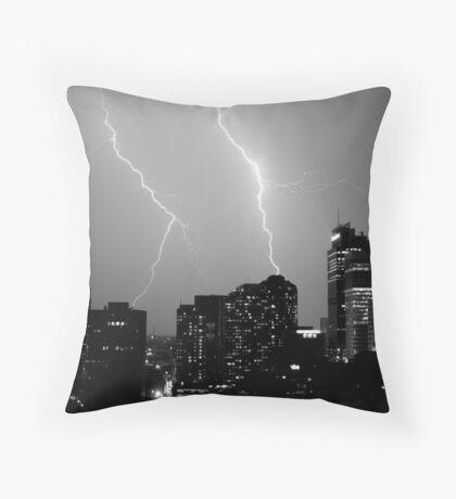 Urban Storm Throw Pillow