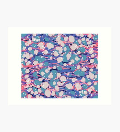 Hip Hop Love Psychedelic Purple Marble Paper Surf Pepe Psyche Art Print