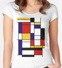 Mondrian Women's Fitted Scoop T-Shirt