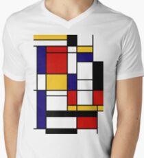 Mondrian Men's V-Neck T-Shirt