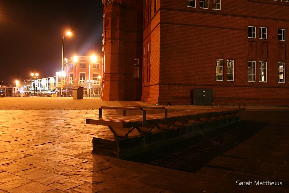 Bench at Cardiff Bay by Sarah Matthews