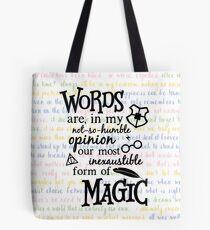 Words are Magic Tote Bag