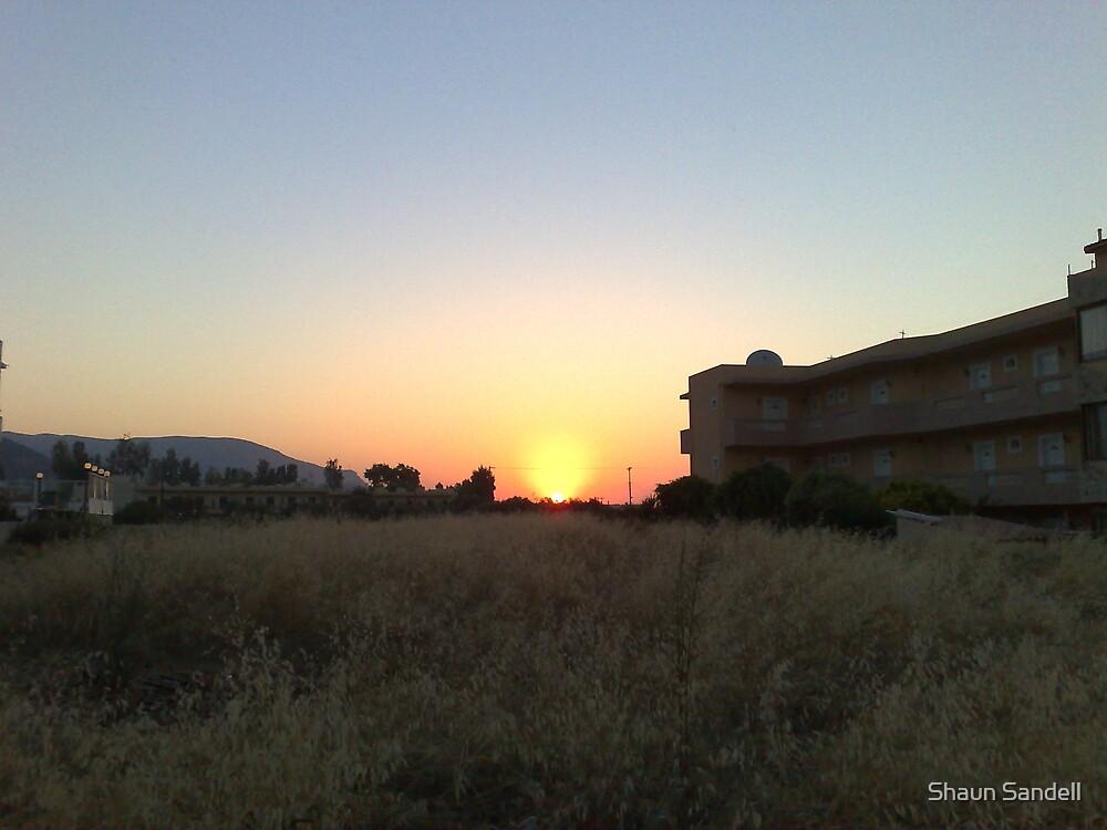 Greek Sunset by Shaun Sandell