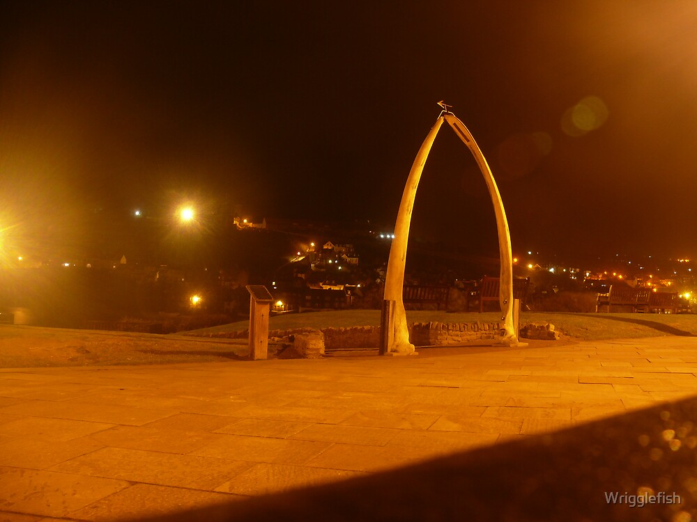 Whitby Whale Bones at Night by Wrigglefish