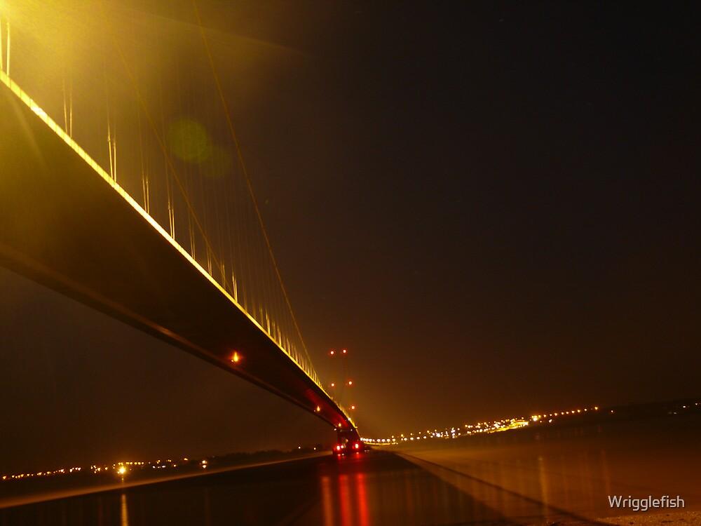 Humber bridge By Night by Wrigglefish